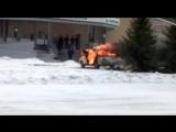 Пылающее авто в Нерюнгри