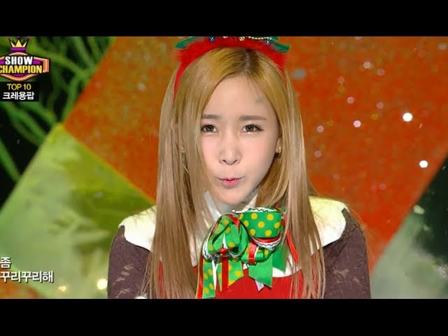 Crayon Pop - Lonely Christmas, 크레용팝 - 꾸리스마스, Show Champion 20131218