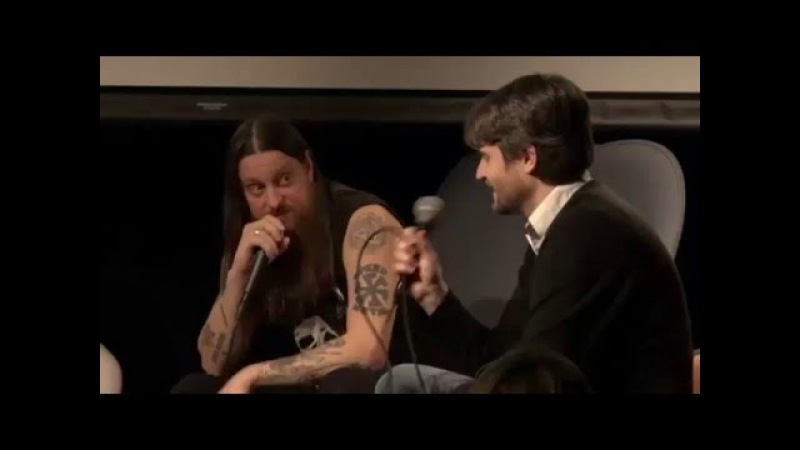 Fenriz talks on panel - Life changing encounters with music