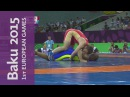 Davit Chakvetadze with a Golden performance for Russia | Wrestling | Baku 2015 European Games