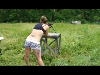 Girls First Time Shooting Mini 14 on a 100+ Degree Day .223 5.56 Tactical