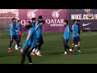 FC Barcelona training: Recovery session after victory; Valencia up next