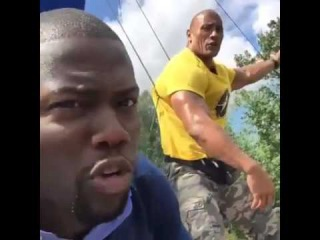 Kevin Hart & The Rock arguing