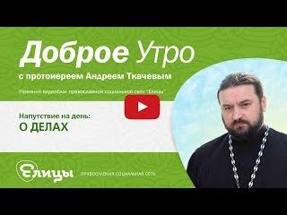 О ДЕЛАХ, с чего начинается дело, о помыслах и мыслях, о духовном делании. о. Андрей Ткачёв