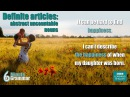 GRAMMAR How to use the definite article with abstract uncountable nouns