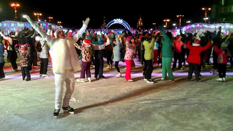 Новогодний танцевальный флешмоб на ВДНХ!