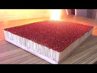 Что будет если подпалить 6000 спичек