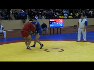 Финал Чемпионата России 2015 г. по самбо, 74 кг. - Сидаков А. vs Куржев