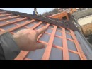 Вывод паро- гидроизоляции на крыше, прикручивание металлочерепицы