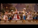 The Bolshoi Ballet performing the mazurka from Coppélia at the Royal Opera House in London
