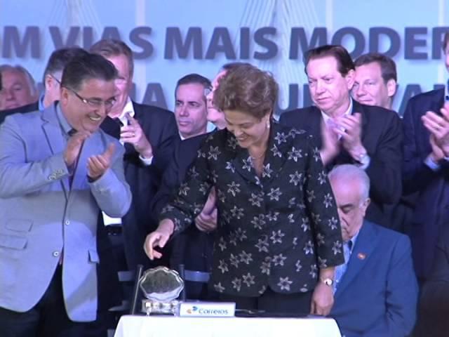 Dilma Roussef inaugura Ponte Anita Garibaldi, em Laguna