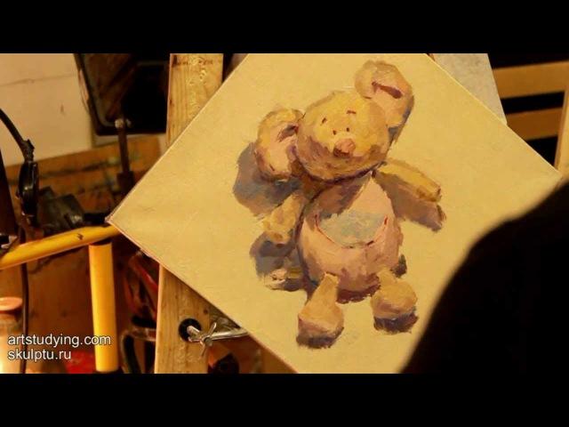Этюд несложного предмета - Обучение живописи. Масло. Введение, 7 серия » Freewka.com - Смотреть онлайн в хорощем качестве