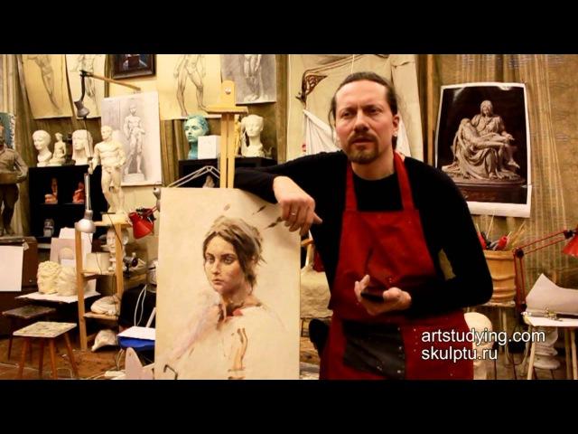 Вопрос прожухания и для чего нужен лак - Обучение живописи. Масло. Введение, 5 серия » Freewka.com - Смотреть онлайн в хорощем качестве