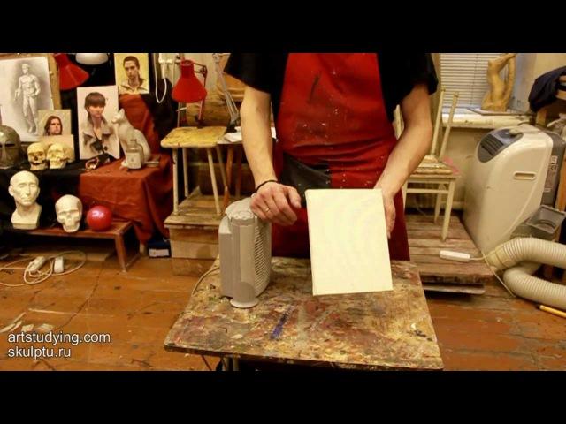 О натяжке грунтованного холста - Обучение живописи. Масло. Введение, 8 серия » Freewka.com - Смотреть онлайн в хорощем качестве