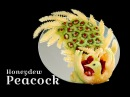 How to make a Peacock with Fruit Pavão em fruta By Art Carving Fruits and Vegetables