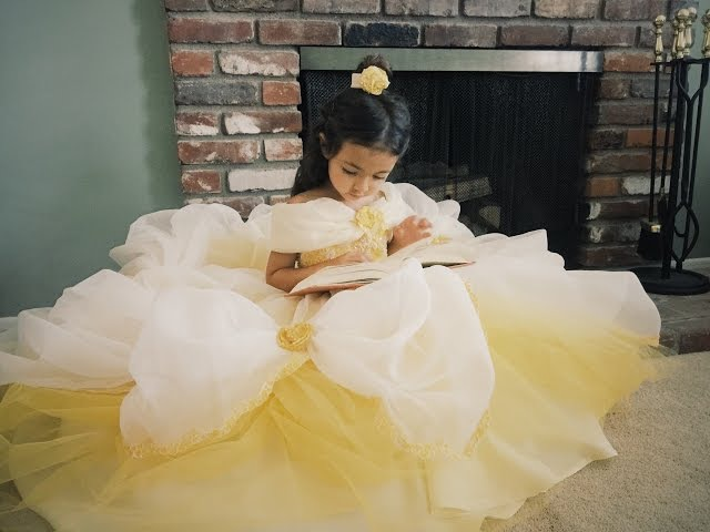 DIY Belle Dress Tutorial from Beauty and the Beast