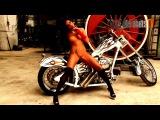 Bikes and Babes TV - Model Ashley Bulgari with custom chopper bike