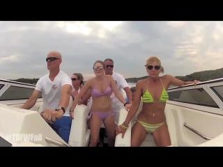 Turn down for what fail - bikini girls boat crash remix