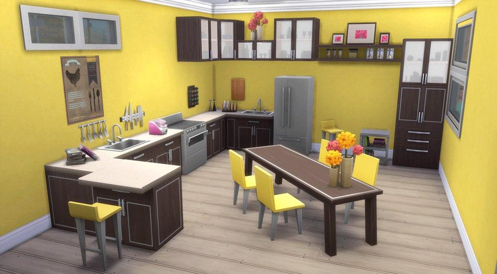 Дизайн кухни в симсе 3 53