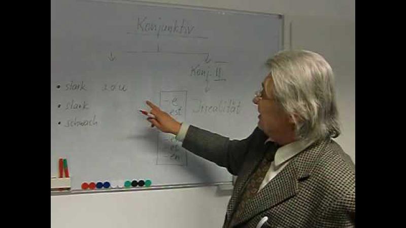 Deutsch lernen Grammatiktafel 19b Bildung des Konjunktivs II