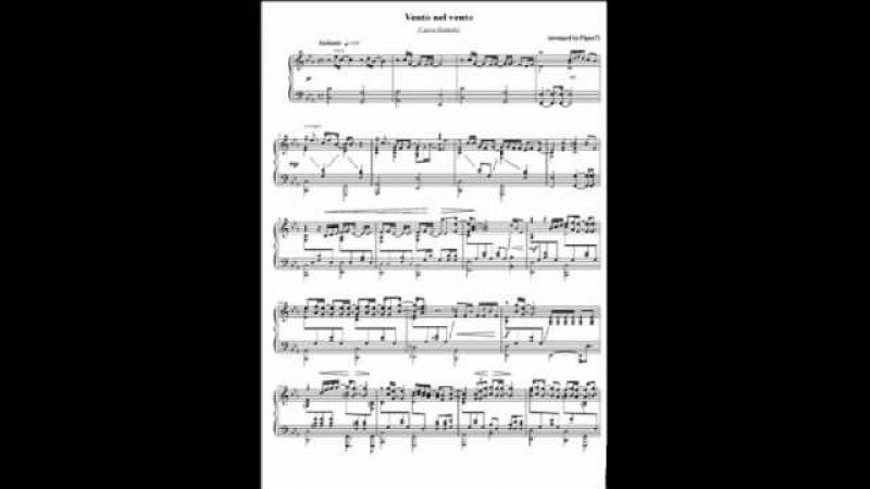 Vento nel vento (Lucio Battisti) - Piano solo.wmv