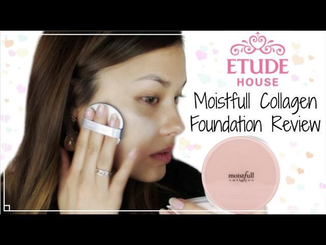 First Impressions ♥ Etude House New Moistfull Collagen Foundation Review 에뛰드하우스 수분가득 콜라겐 파운데이션 리뷰
