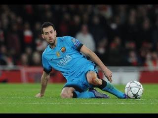 Sergio Busquets Vs Arsenal     Individual Highlights    24/02/16(AWAY)   720p