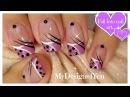 Cute Polka Dots Nail Art | Abstract Purple Nails ♥ Diseño de Uñas Abstracto