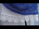 Обвязка кружевной каймой юбки из ткани КАЙМА крючком Схема вязания