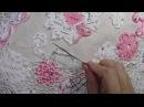 Как вязать сеточку Ирландское кружево Вязание скатерти Танец бабочек Часть 1