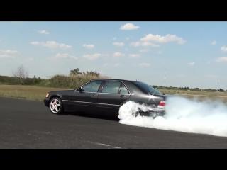 ПОЗОР СПОРТКАРОВ)))) Mercedes S 600 V12 Biturbo 0-270km-h acceleration, and burnout -- KO 860