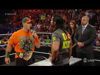 (WWEWM) ВВЕ РО 17.08.2015 - Подписание контракта между Сетом Роллинсом и Джоном Синой