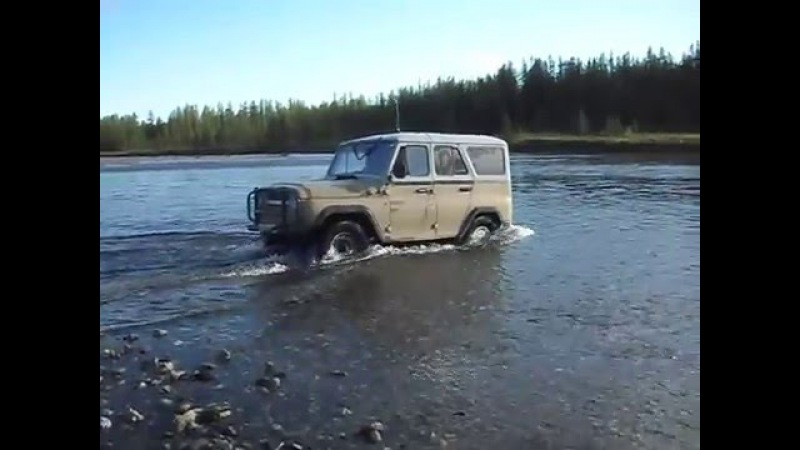 UAZ УАЗ Проверка Глубины Off-RoaD ЖивоЙ ВОДОЛАЗ)