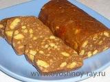 Сладкая колбаска из печенья и какао.(Очень вкусный десерт за 10 минут)