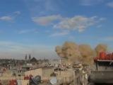 19.11.15 Момент попадания ракеты БеТАБ-500 по командному пункту ИГИЛа в пров. Дамаск.