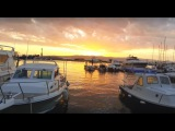 Море и закат в Бреле и Башка Воде в начале января 2016 / Sea Sunset in Brela and Baska Voda Croatia