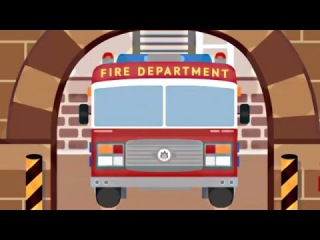 Мультфильм про пожарную машину. Пожарник Мик спасает кошку. Смотреть  ...
