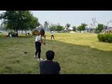 JUNGYEON&TZUYU thrwoing/hitting practice!