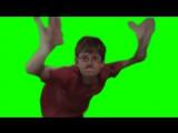 Crazy Frog Bros GREEN Screen guy tshirt Red Dance