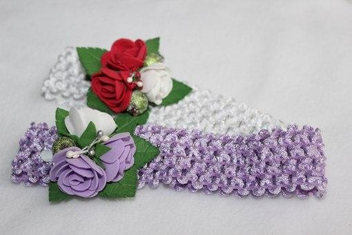 Как сделать цветок для повязки