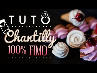 [TUTO] Chantilly 100% FIMO + Chantilly Bicolore - PolymerClay Wipped Cream