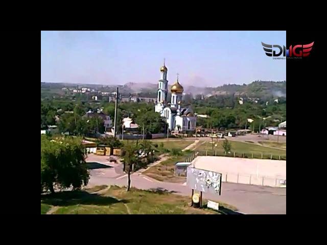 8 июня 2015. Горловка. Обстрел поселка Комарова, Курганка