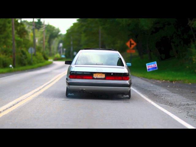 Audi 200 Quattro launching with launch control/anti-lag