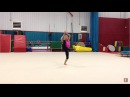 Sydney age 8 - GB Compulsory Level 4 Floor (practice)