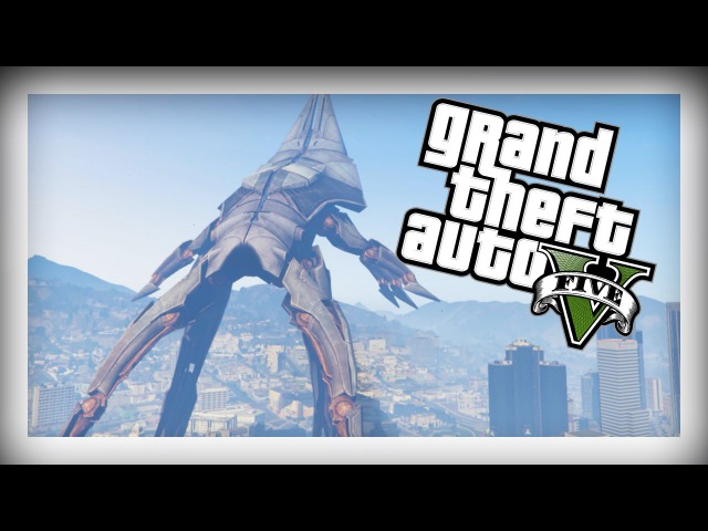 GTA 5 - EPIC MASS EFFECT 3 REAPER SHIP, FLY REAPER SHIP AROUND LOS SANTOS
