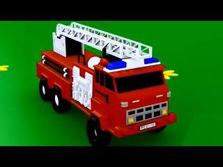 Развивающие мультики для малышей Грузовик Тема и Пожарная Машина ( мультик для детей, про машинки).