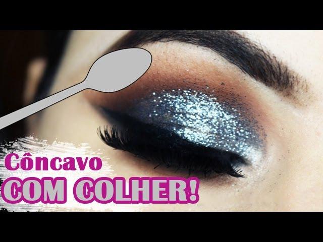 Esfumado com colher - Dicas de maquiagem para pálpebra gordinha e caída - Makeup Tutorial