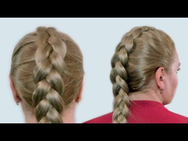 Плетение Французской Косы Наоборот на Себе (Видео-Урок). Reverse French Braid itself Tutorial » Freewka.com - Смотреть онлайн в хорощем качестве