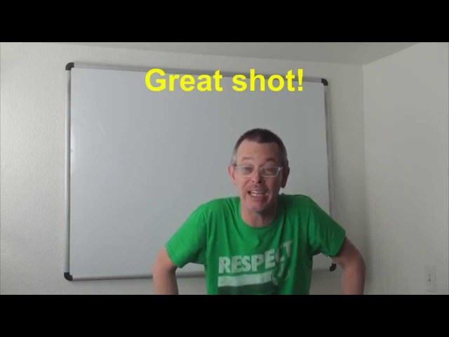 Learn English: Daily Easy English Expression 0456: Great shot!
