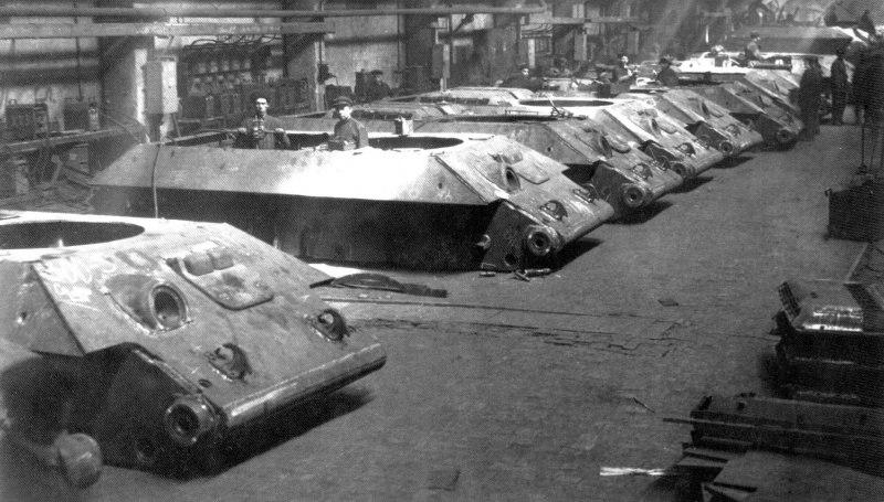 Сварка корпусов танка Т-34